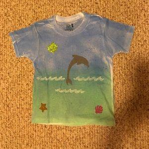 Handmade Dolphin design kids shirt